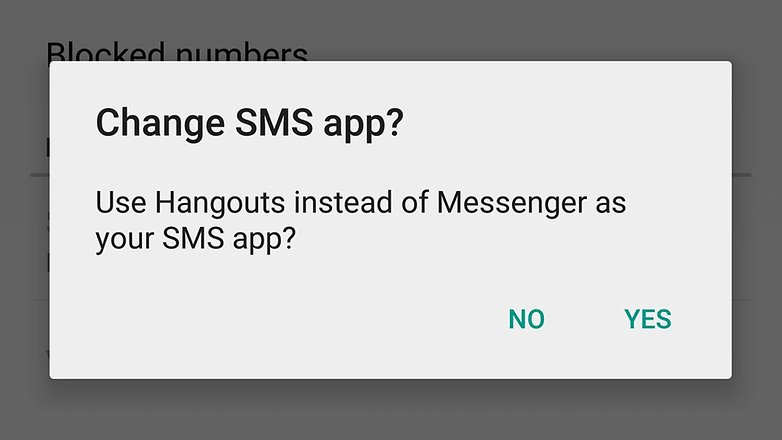androidpit hangouts sms app