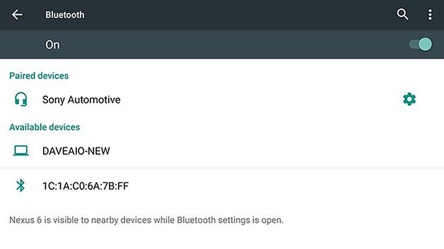androidpit lollipop bluetooth settings