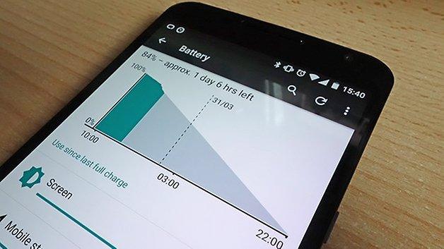 androidpit nexus 6 battery screen