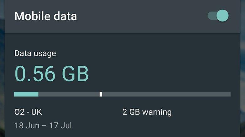 androidpit nexus 6 data usage panel