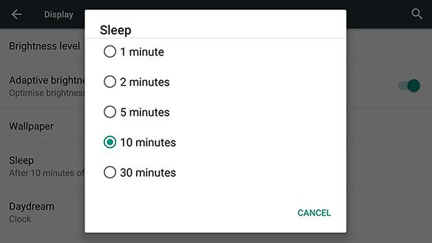 androidpit nexus 6 sleep time