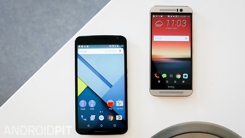HTC M9 vs NEXUS 6 comparison 4