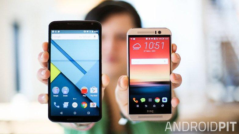 HTC M9 vs NEXUS 6 comparison teaser 6568