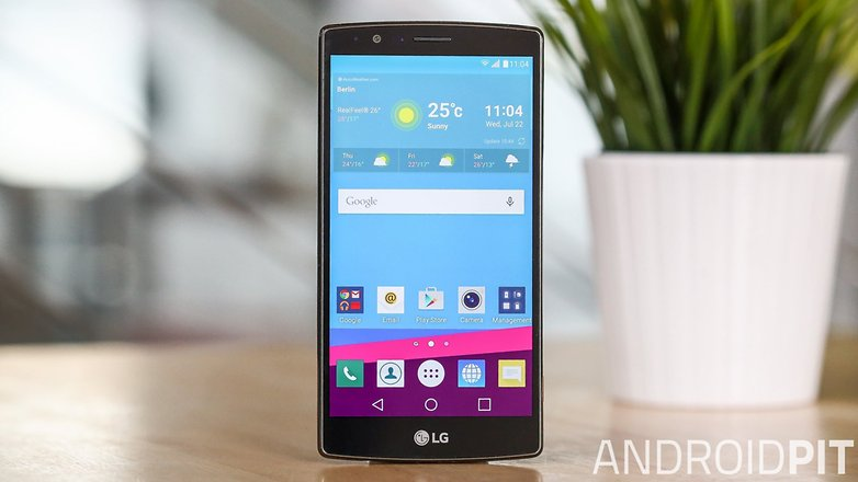 AndroidPIT LG G4 display front