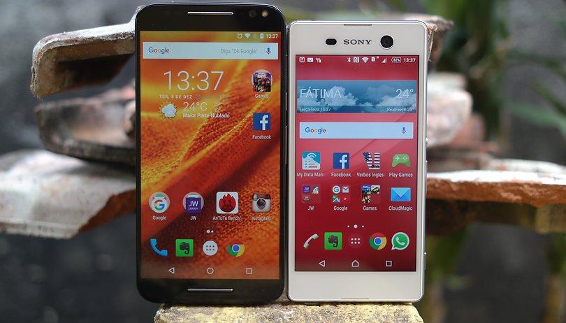 Xperia M5 vs Moto X Style: super intermediários ou tops de linha?