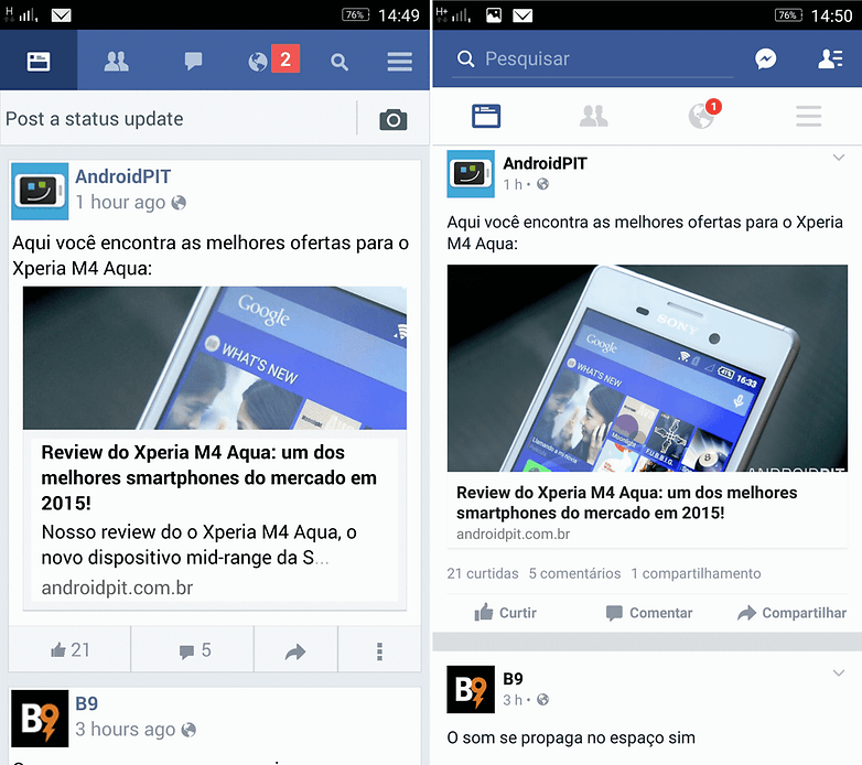 facebook lite interface