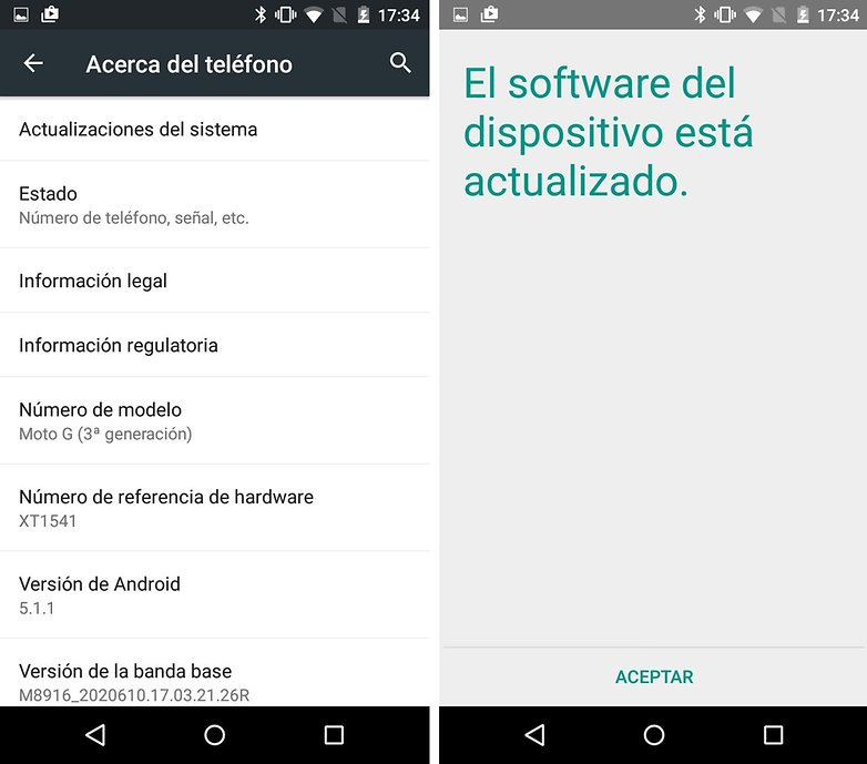actualizacion android moto g