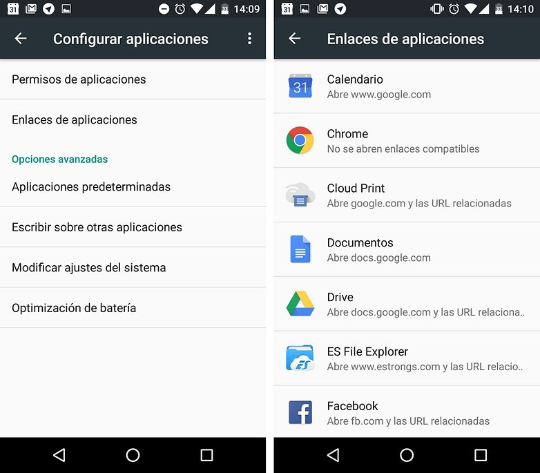 enlaces apps marshmallow