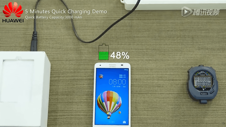 huawei battery fast charging
