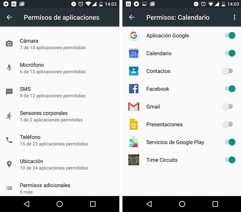 permisos apps marshmallow