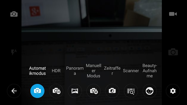 Kamera UI des Alcatel OneTouch Idol 3
