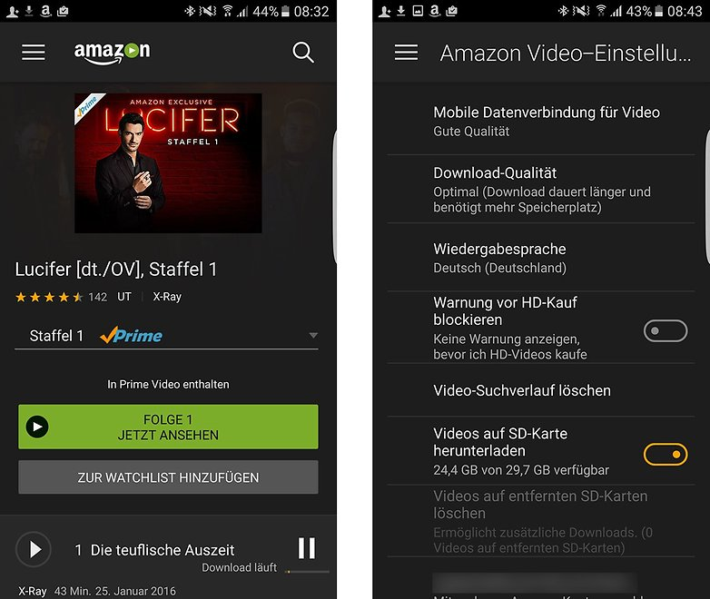 Amazon Prime Video Offline microSd