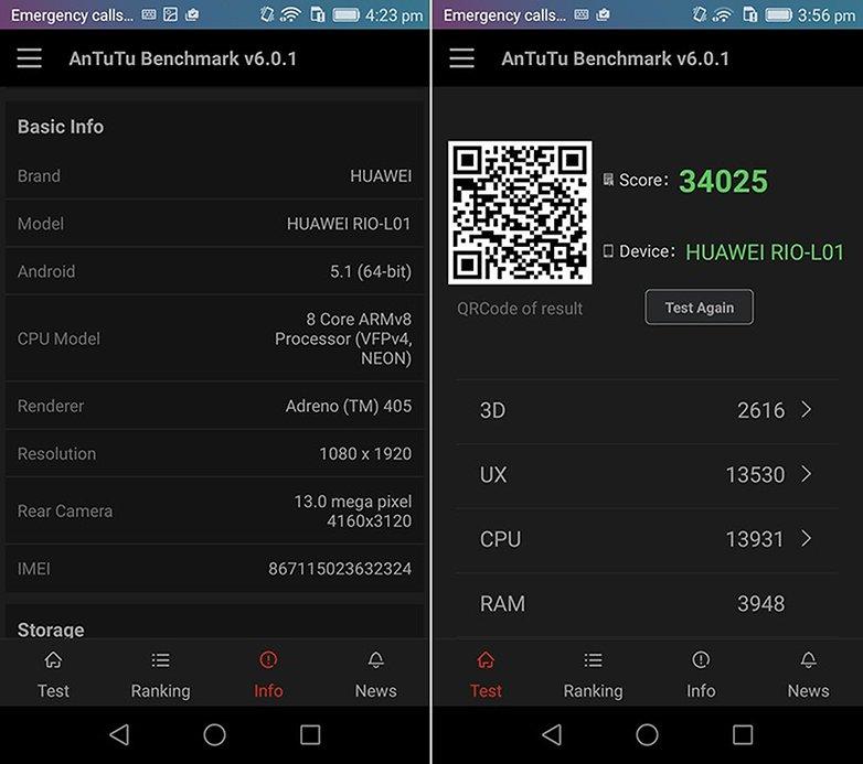 AnTuTu benchmark Huawei GX8