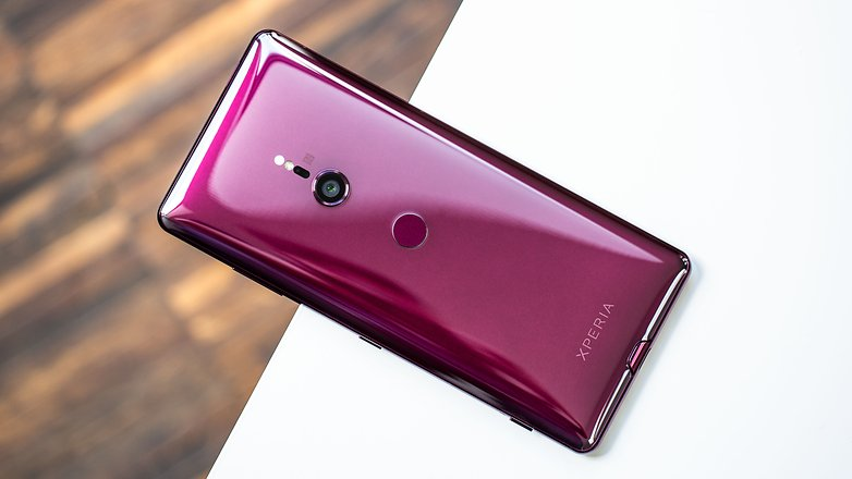 AndroidPIT sony xperia xz3 back red