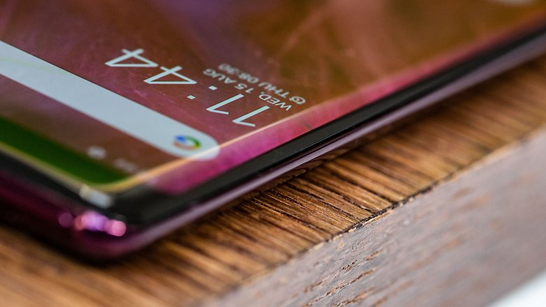 AndroidPIT sony xperia xz3 curved screen