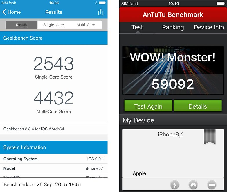 Apple iPhone 6s Benchmark