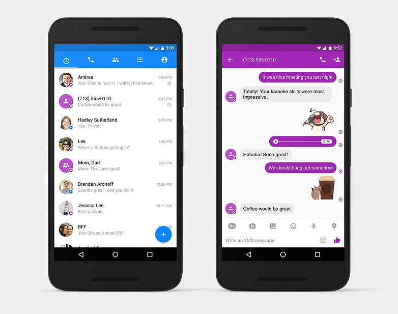 Facebook messenger SMS 2