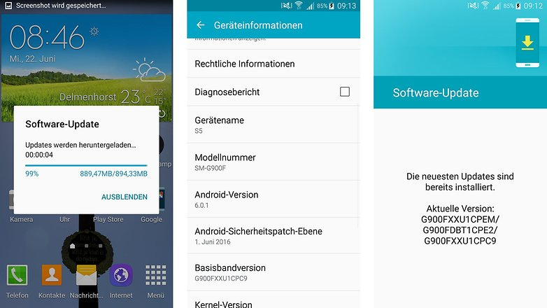 Galaxy S5 Android 6 0 1 update