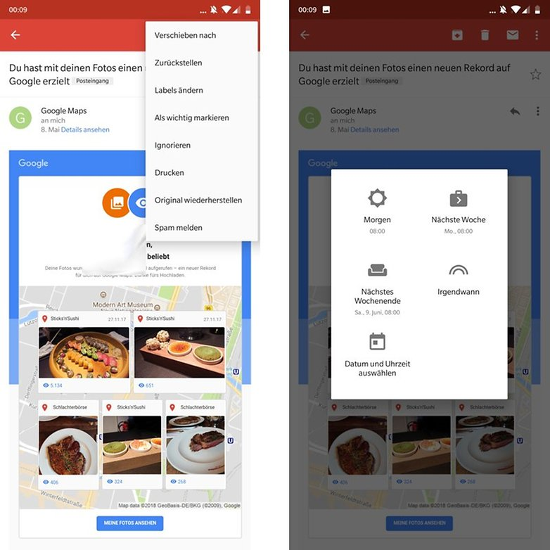 Gmail App zurueckstellen