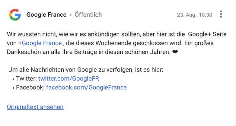 Google FR Google Adieu