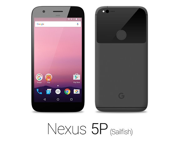 Das Nexus Sailfish in Schwarz von HTC