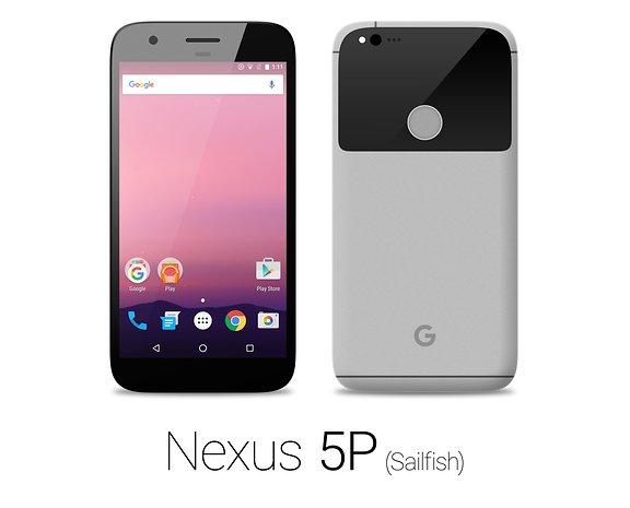 Das Nexus Sailfish in Grau von HTC