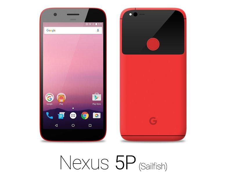 HTC Nexus Sailfish red