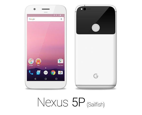 Das Nexus Sailfish in Weiß von HTC