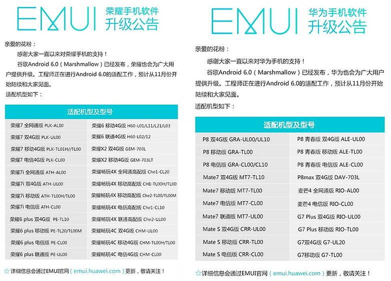 Huawei Honor Update Android 6 0 marshmallow