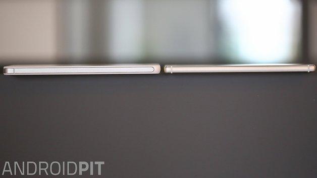 Das P8 von Huawei ist wesentlich flacher als das Honor 6 Plus