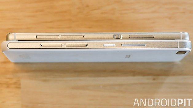 Huawei P8 und Honor 6 Plus im Vergleich: Seitenansicht.