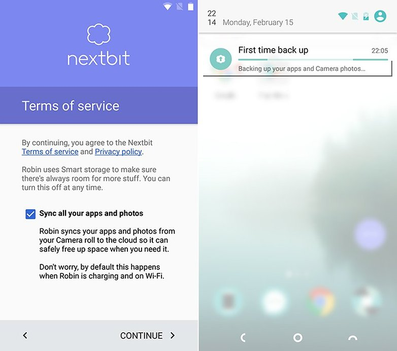 Nextbit Robin cloud sync
