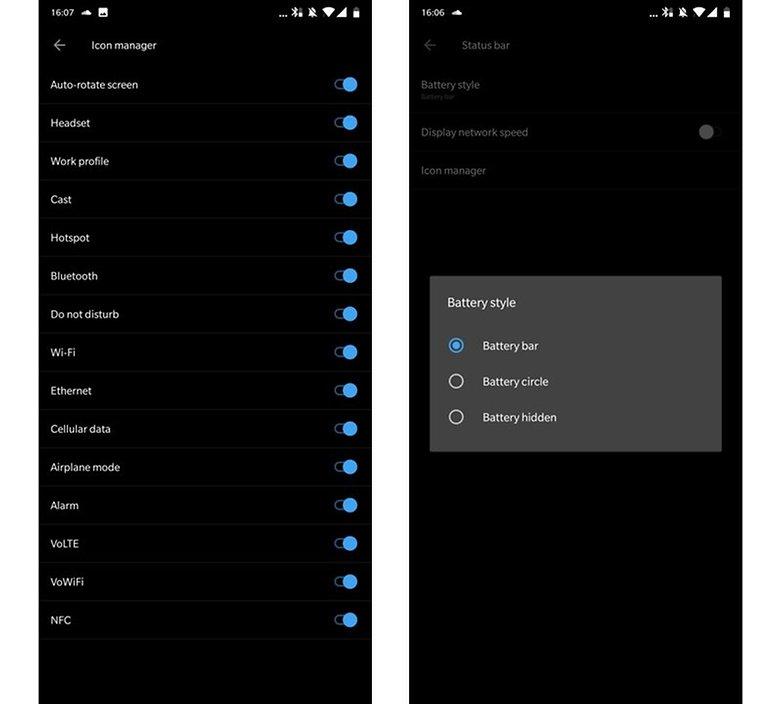 OxygenOS OnePlus6 Statusbar