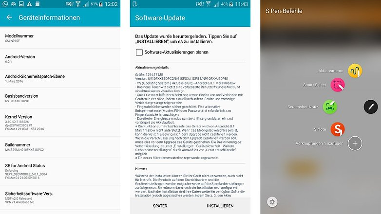 Samsung Galaxy Note 4 Android 6 0 1 marshmallow update