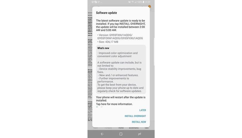 Samsung Galaxy S8 und S8+: Android-Updates in der Übersicht