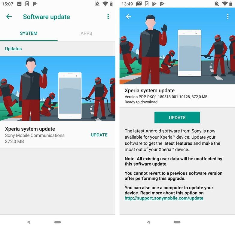 Sony Xperia XZ2 Android P 5