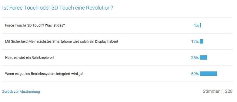 Umfrage Screenshot