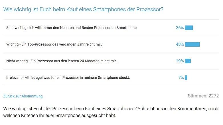 Umfrage Top Prozessor Kaufargument