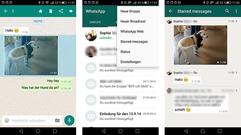 WhatsApp Beta favoriten