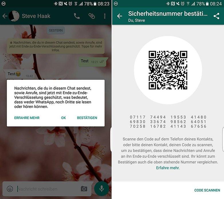 WhatsApp Ende zu Ende Verschluesselung