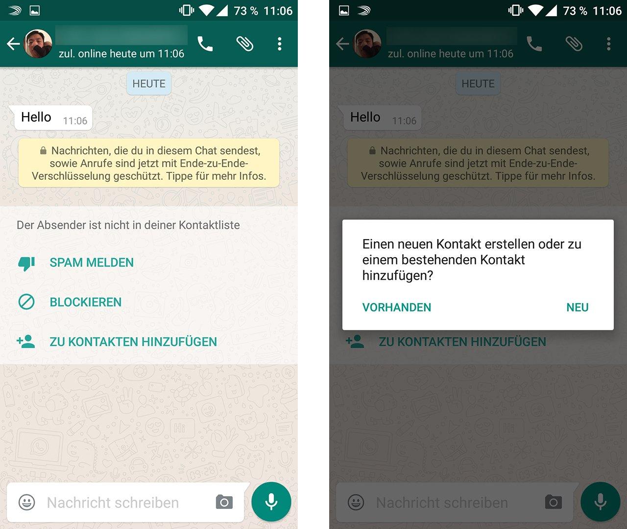 whats app kontakt blockieren