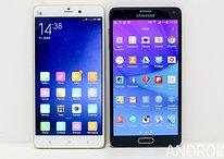 Galaxy Note 4 vs. Xiaomi Mi Note Pro: Wird Samsung entthront?