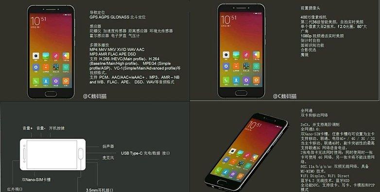 Xiaomi mi s leak