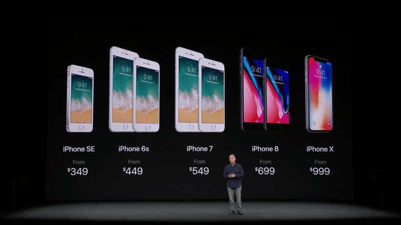 apple keynote iphone x price