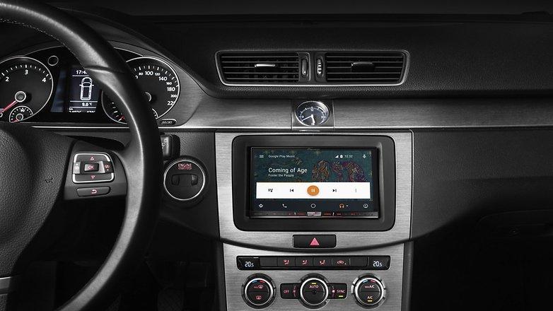 avic f77dab front androidautoui music