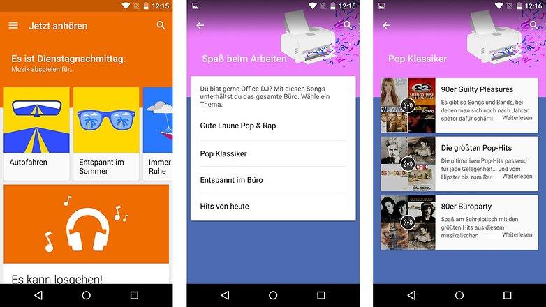 google play music playlisten neu