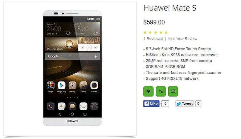 Huawei mate s oppomart big