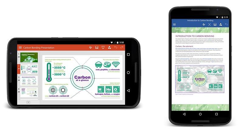 Microsoft Word, Excel und PowerPoint ab sofort auch für Android-Smartphones