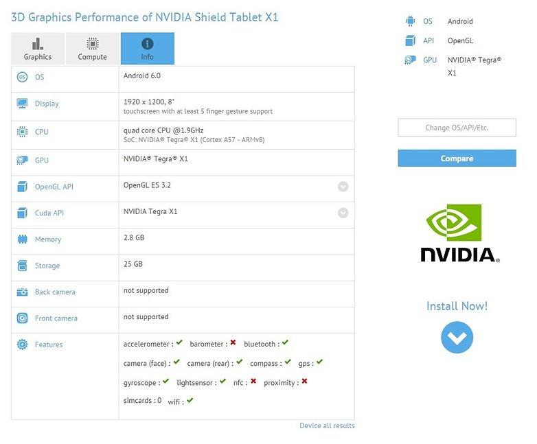 nvidia shield tablet x1 gfxbench