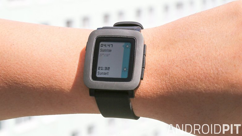 pebble time im test die etwas andere smartwatch androidpit. Black Bedroom Furniture Sets. Home Design Ideas